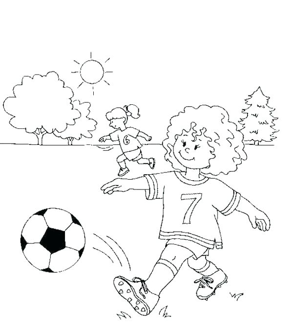 600x678 Soccer Girl Coloring Page Coloring Pages Soccer Soccer Coloring