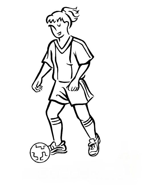 502x650 Usa Women's Soccer Coloring Pages Woman Card Ideas