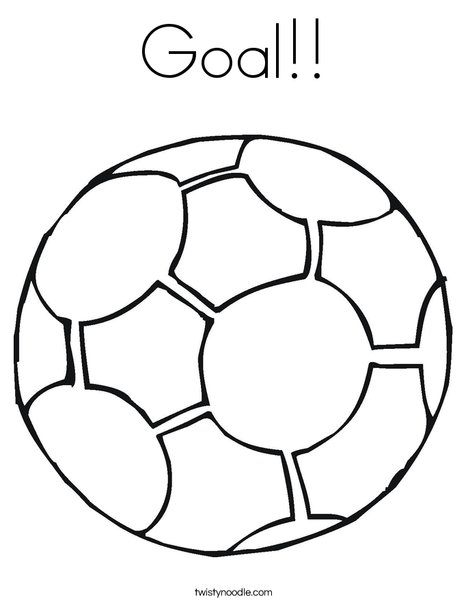 468x605 Goal Coloring Page