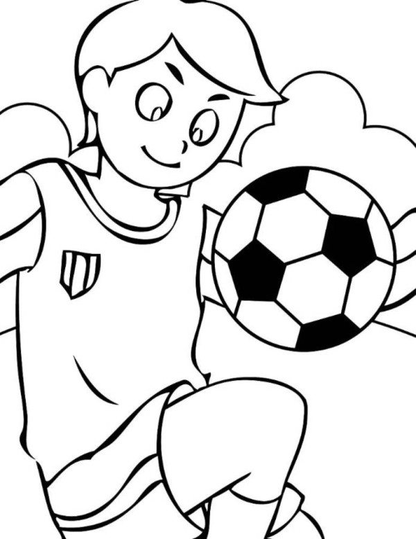 600x777 Soccer Goal Coloring Pages