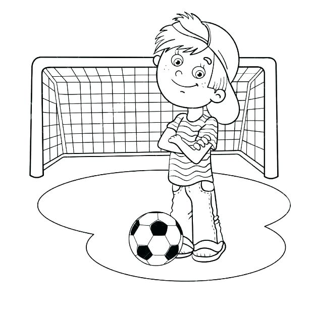 618x618 Soccer Ball Coloring Page
