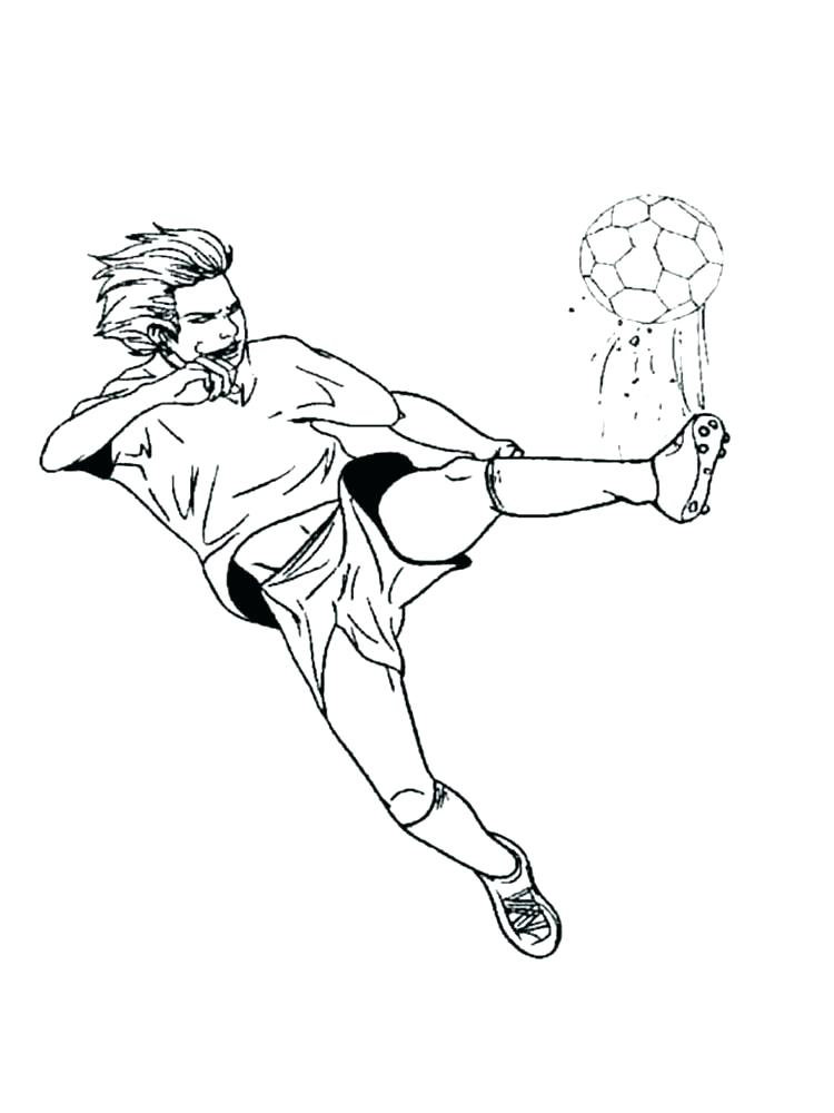 750x1000 Football Field Coloring Pages Goal Keeper Stopping The Ball