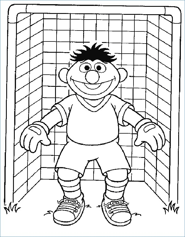 625x800 Elmo Sesame Street Goal Keeper Soccer Coloring Pages