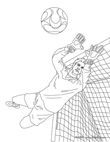 364x470 Goal Keeper Stopping The Ball Coloring Pages
