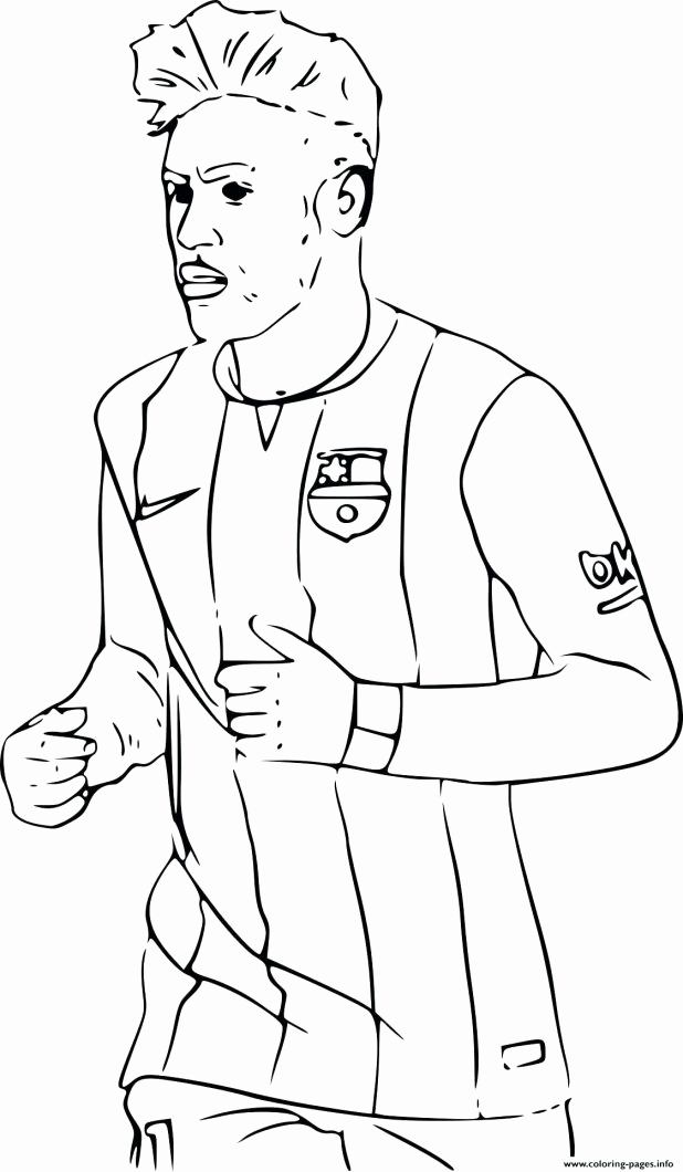 618x1060 Messi Coloring Pages Leversetdujourfo Soccer Goalie Coloring Pages