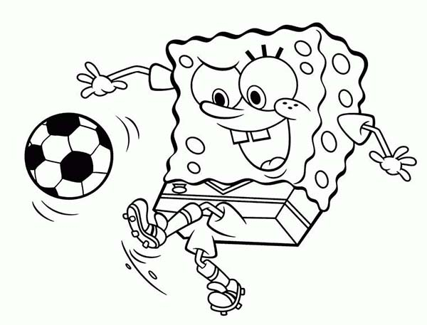 600x457 Soccer Coloring Page