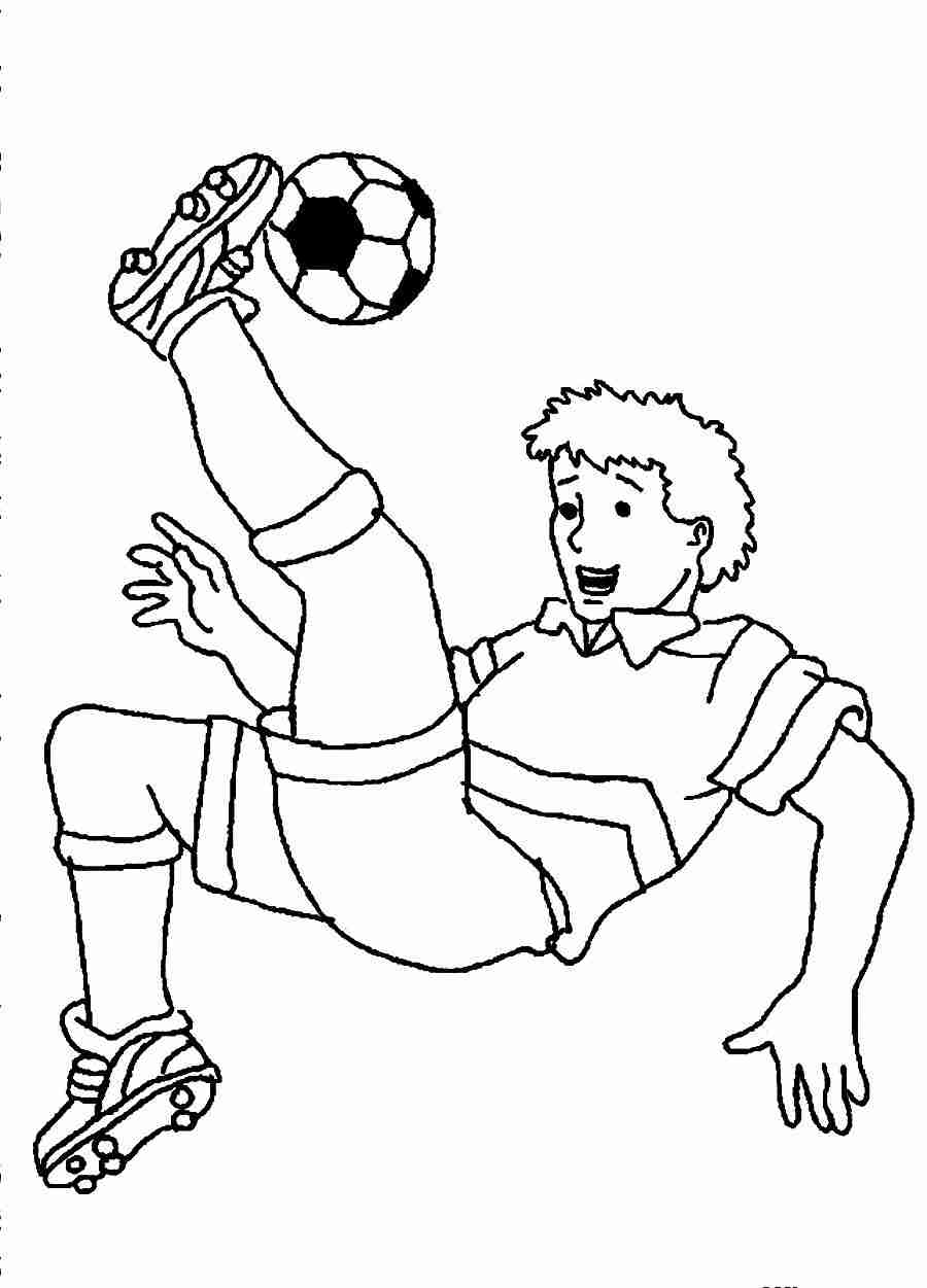 900x1251 Soccer Coloring Pages Player Bright Olegratiy