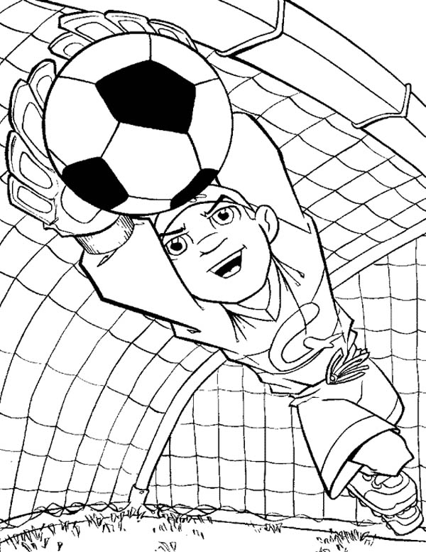 600x777 Soccer Goalie Coloring Pages