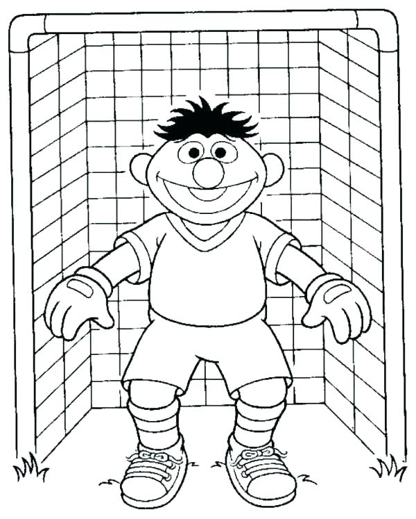 600x747 Soccer Coloring Page