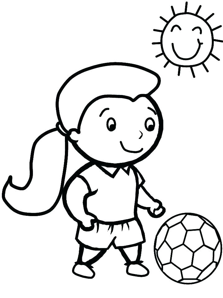 718x957 Soccer Ball Coloring Page Soccer Ball Coloring Page Pages