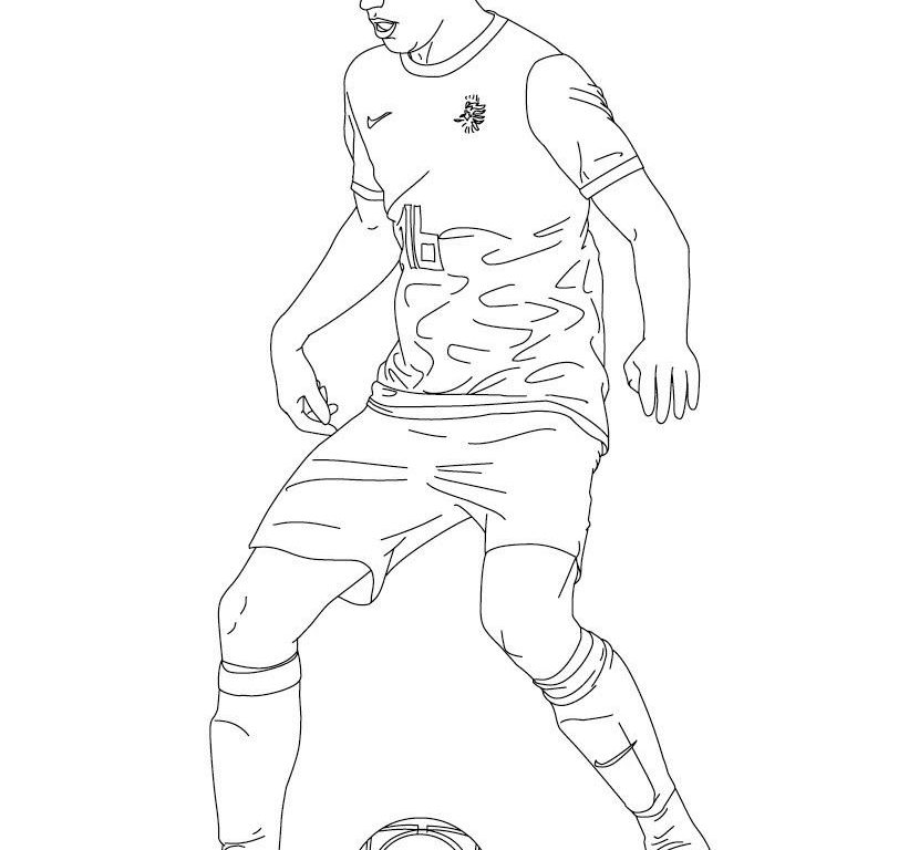 821x768 Soccer Coloring Pages Player General Field Of Cleats Colouring