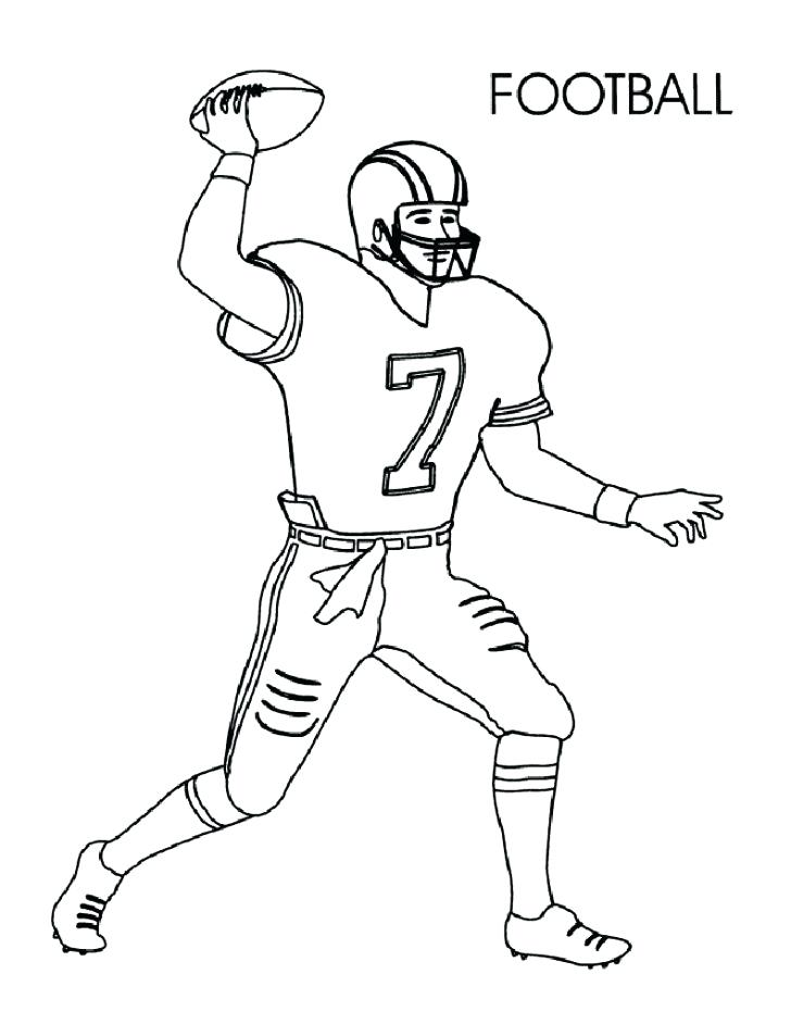 728x942 Football Player Coloring Pages Football Player Coloring Pages