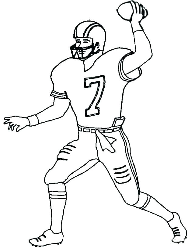 618x813 Football Player Coloring Pages Green Bay Packers Football Coloring