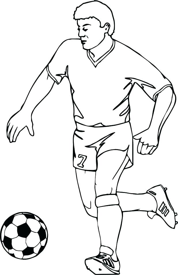 618x955 Soccer Player Coloring Pages Football Player Coloring Page Running