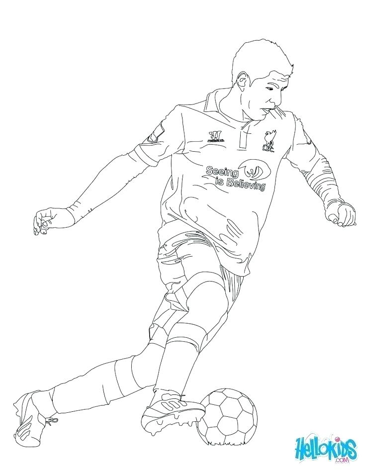 736x951 Soccer Players Coloring Pages Football Player Coloring Football