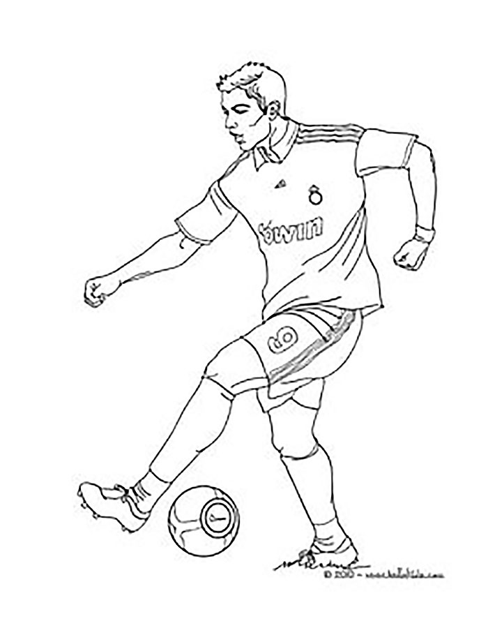 Soccer Player Coloring Pages At Getdrawings Com Free For