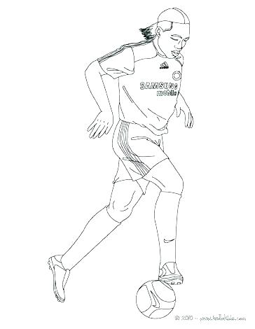 364x470 Football Player Coloring Page Soccer Player Coloring Pages Here