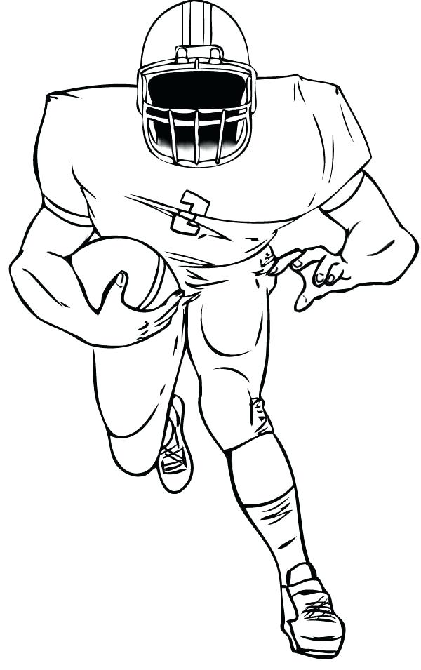 600x955 Football Player Coloring Pages Football Coloring Page Professional