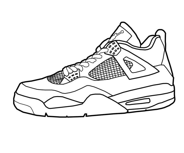 736x613 Drawn Shoe Coloring Sheet