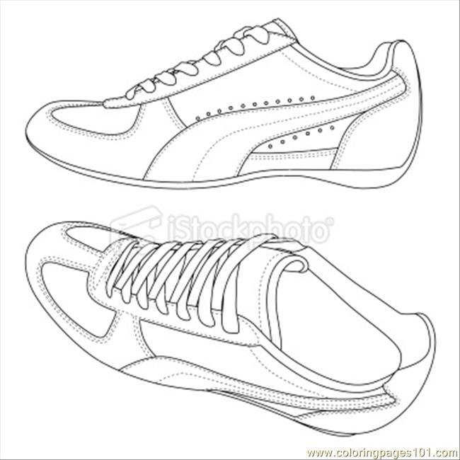 650x650 Ockphotosport Shoes Coloring Page