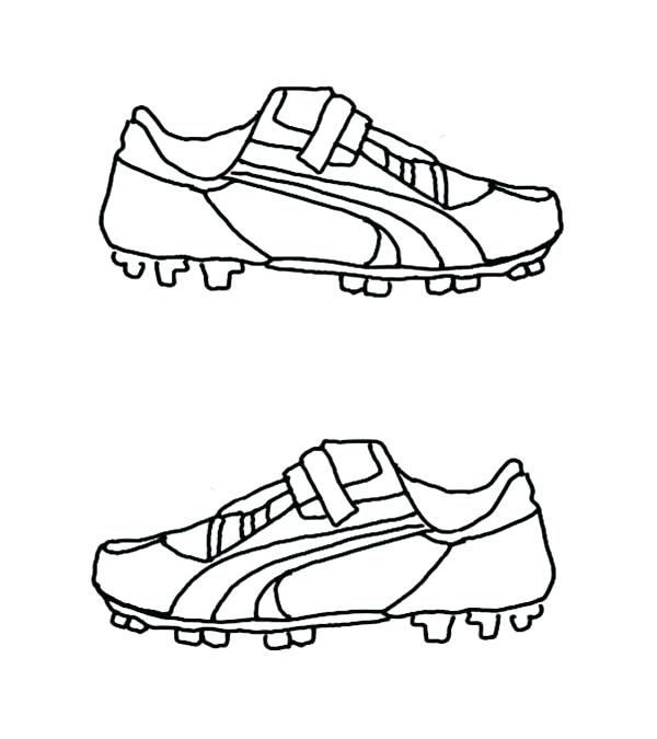 600x675 Coloring Pages Of Soccer Soccer Shoes Coloring Page Sky Coloring
