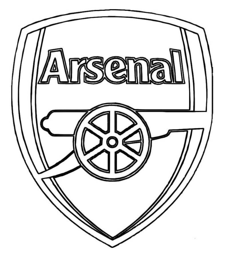 791x900 Print Arsenal Logo Soccer Coloring Pages Or Download Arsenal Logo