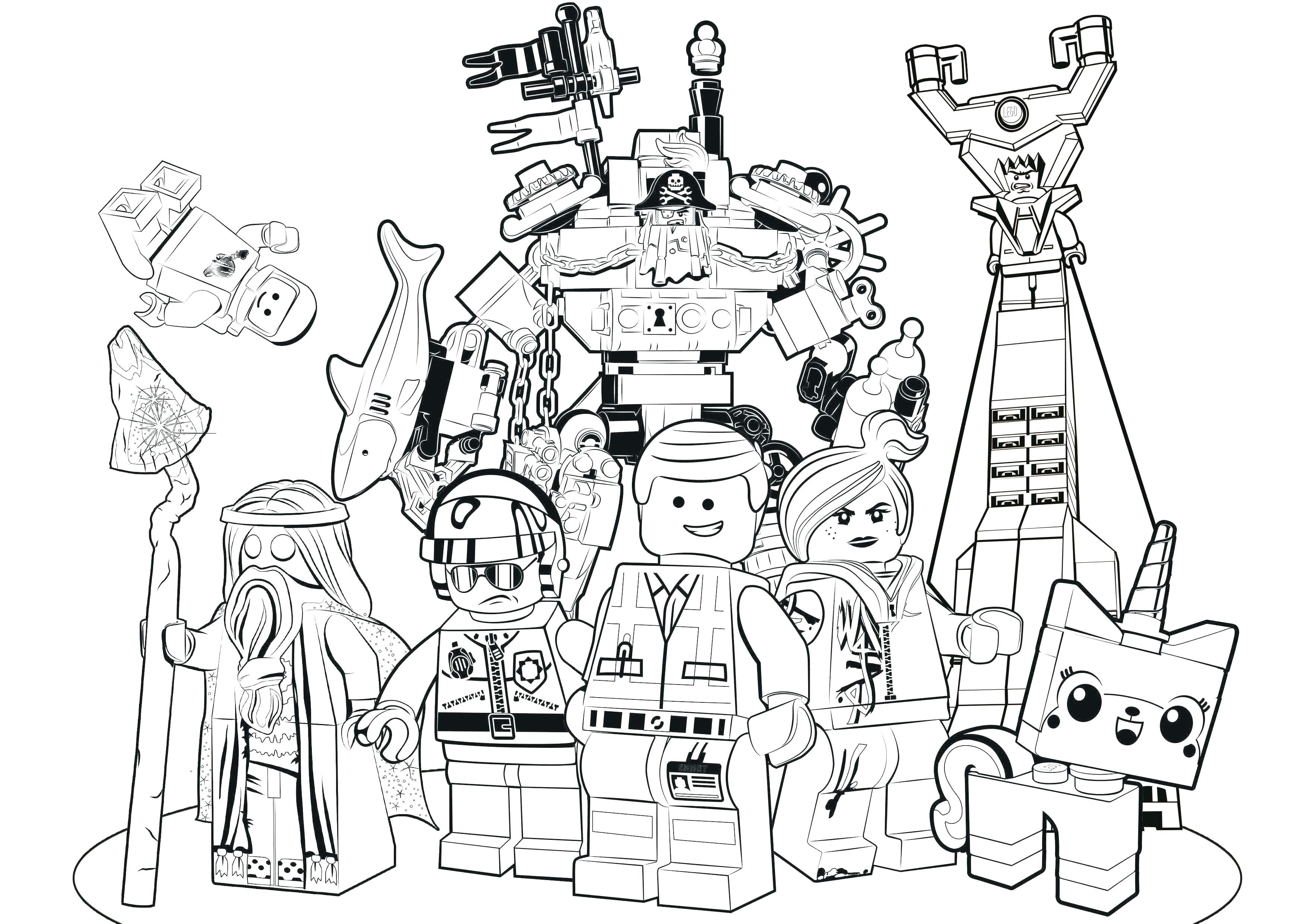 3508x2481 Justice League Coloring Pages