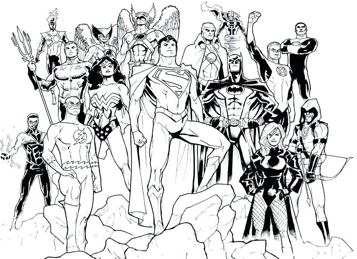 736x535 Justice League Coloring Pages Also Origins Of The Justice League