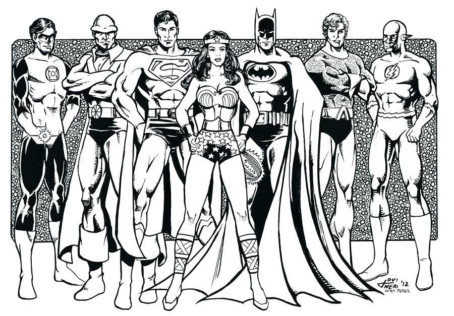 900x627 Justice League Coloring Pages To Print Avengers Vs Justice League