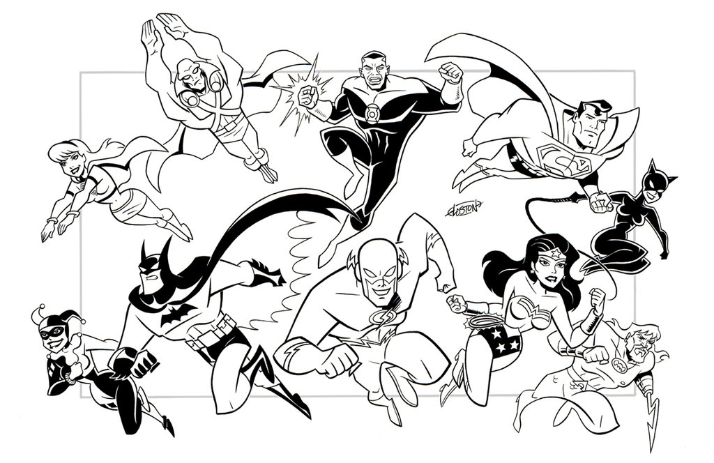 1024x664 Printable Justice League Coloring Pages