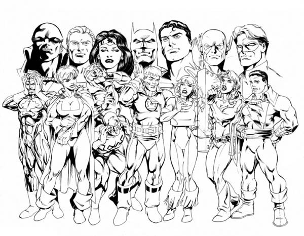 600x466 The Member Of Justice League Coloring Page