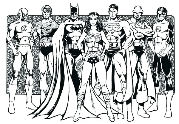 600x418 Dc Justice League Coloring Pages Charming Justice League Coloring