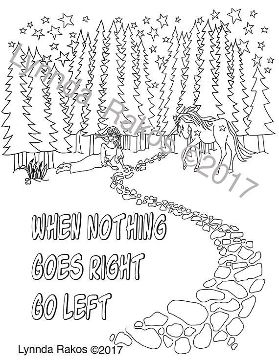 570x738 Digital Download Coloring Page With Saying When Nothing Color Me