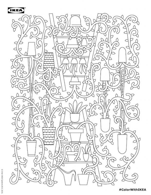 620x802 Ikea Coloring Pages Are The Perfect Break From Ikea Assembly