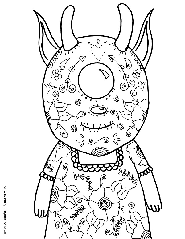 600x776 October November's Coloring Pages Unwavering Imagination