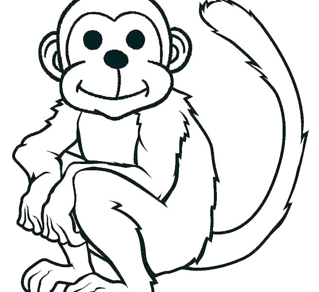 656x600 Monkey Coloring Pages Monkey Color Page Printable Monkey Coloring