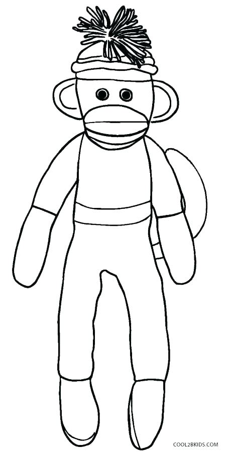 460x900 Coloring Pages Of A Monkey Sock Monkey Coloring Pages Monkey