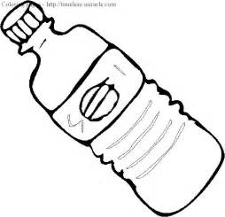 Soda Bottle Coloring Page