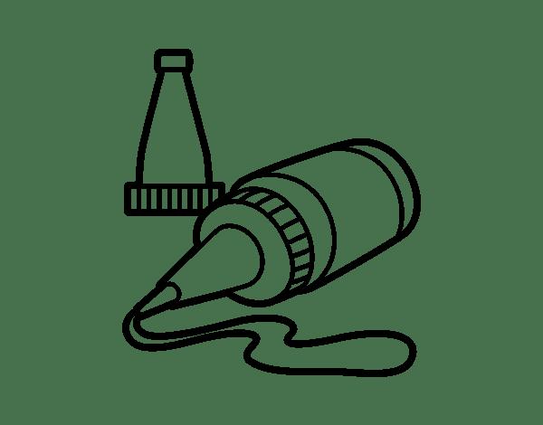 600x470 Glue Bottle Coloring Pages