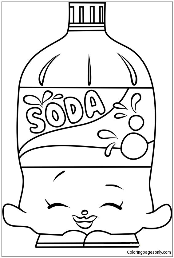 566x839 Soda Shopkins Coloring Page Summer Coloring Pages