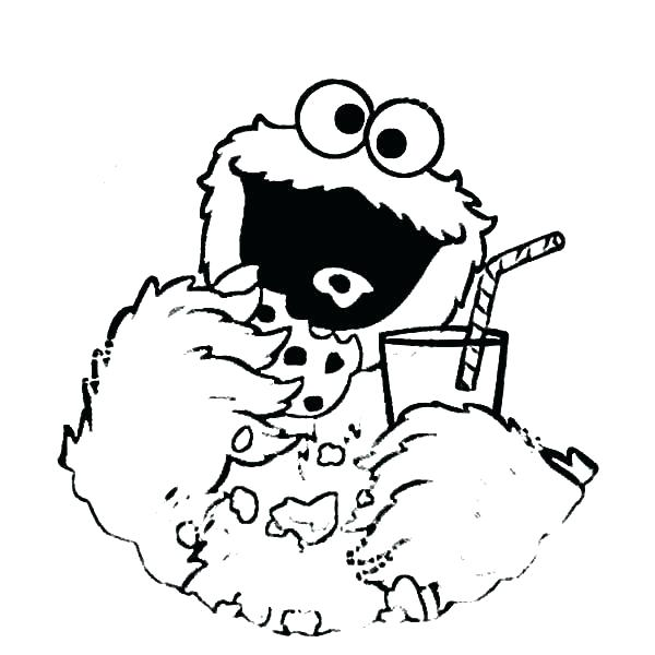 600x600 Drink Coloring Cookie Monster Coloring Page Cookie Monster Drink