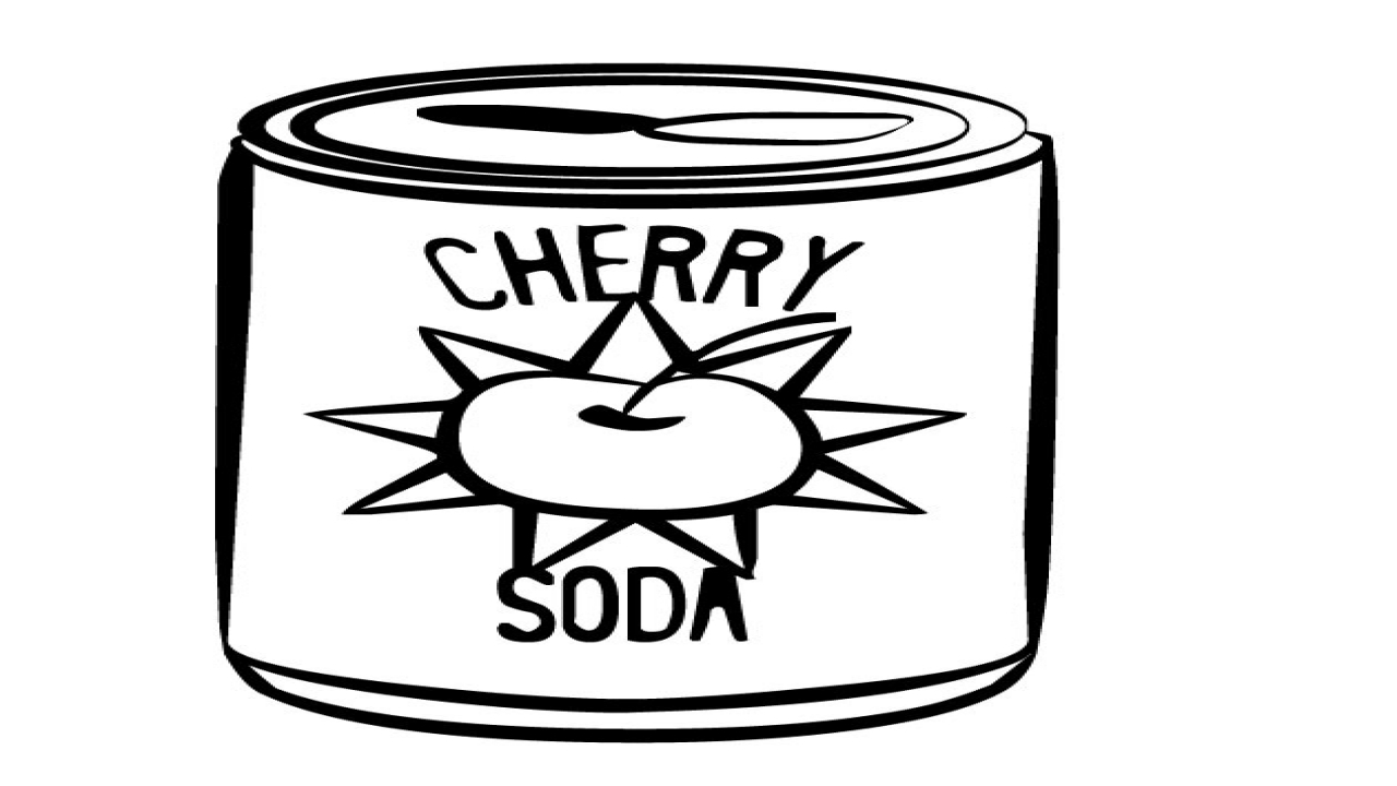 1280x720 Soda Can Coloring Sheet Printable Cherry Page