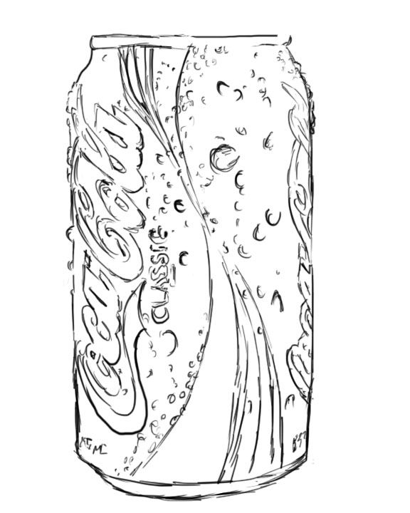576x720 Soda Can Coloring Pages Coca Cola Bottle Page Coke