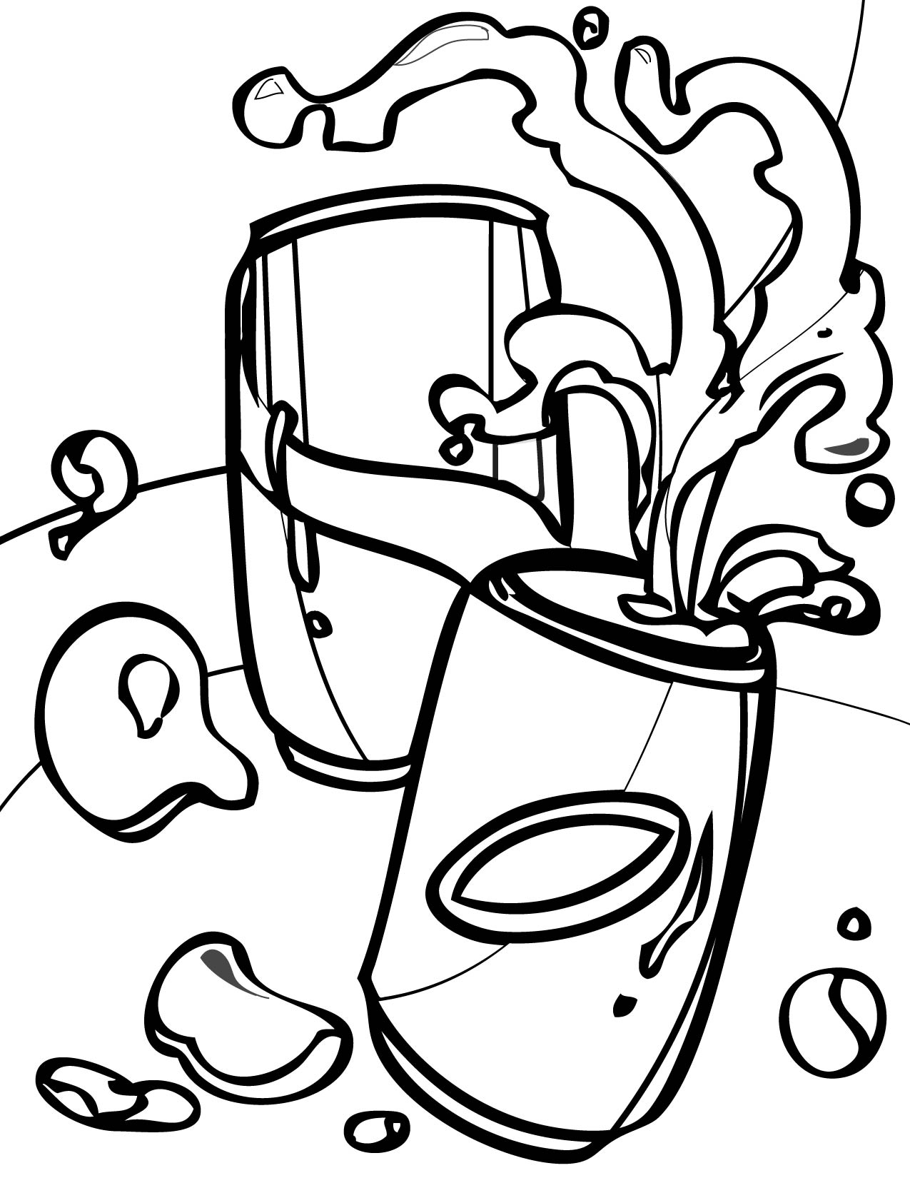 1275x1650 Soda Coloring Page