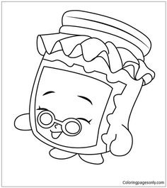 236x265 Soda Shopkins Coloring Page Summer Coloring Pages