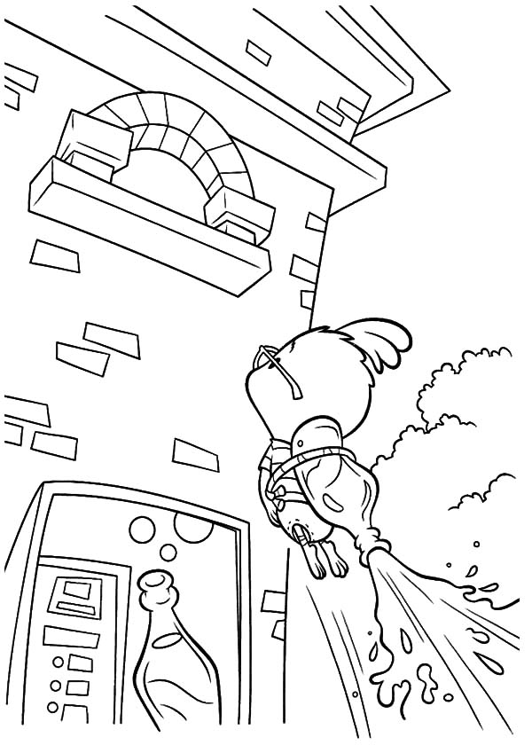 600x840 Chicken Little Flying Using Soda Bottle Coloring Pages