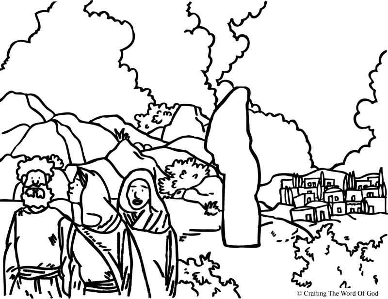 800x617 Lots Wife Coloring Page Crafting The Word Of God