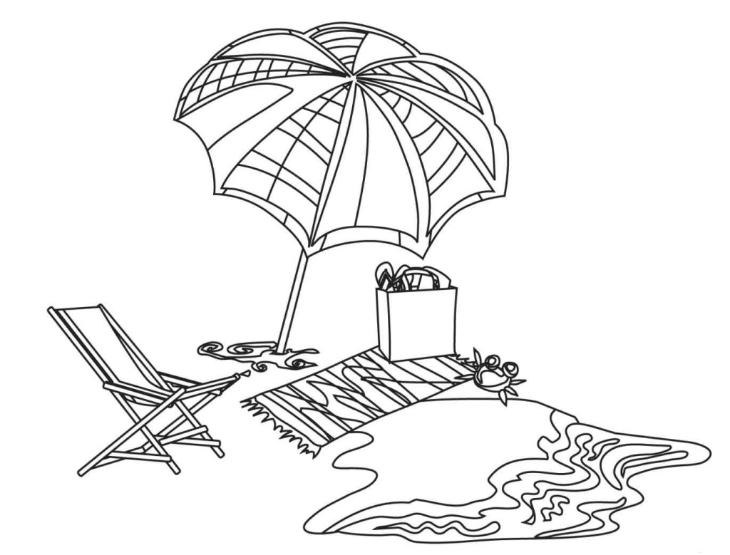 1024x779 Fresh Beach Chair Color Page Free Colouring Pages Free Coloring