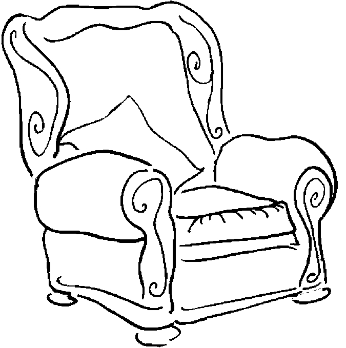 675x679 Chair Coloring Page