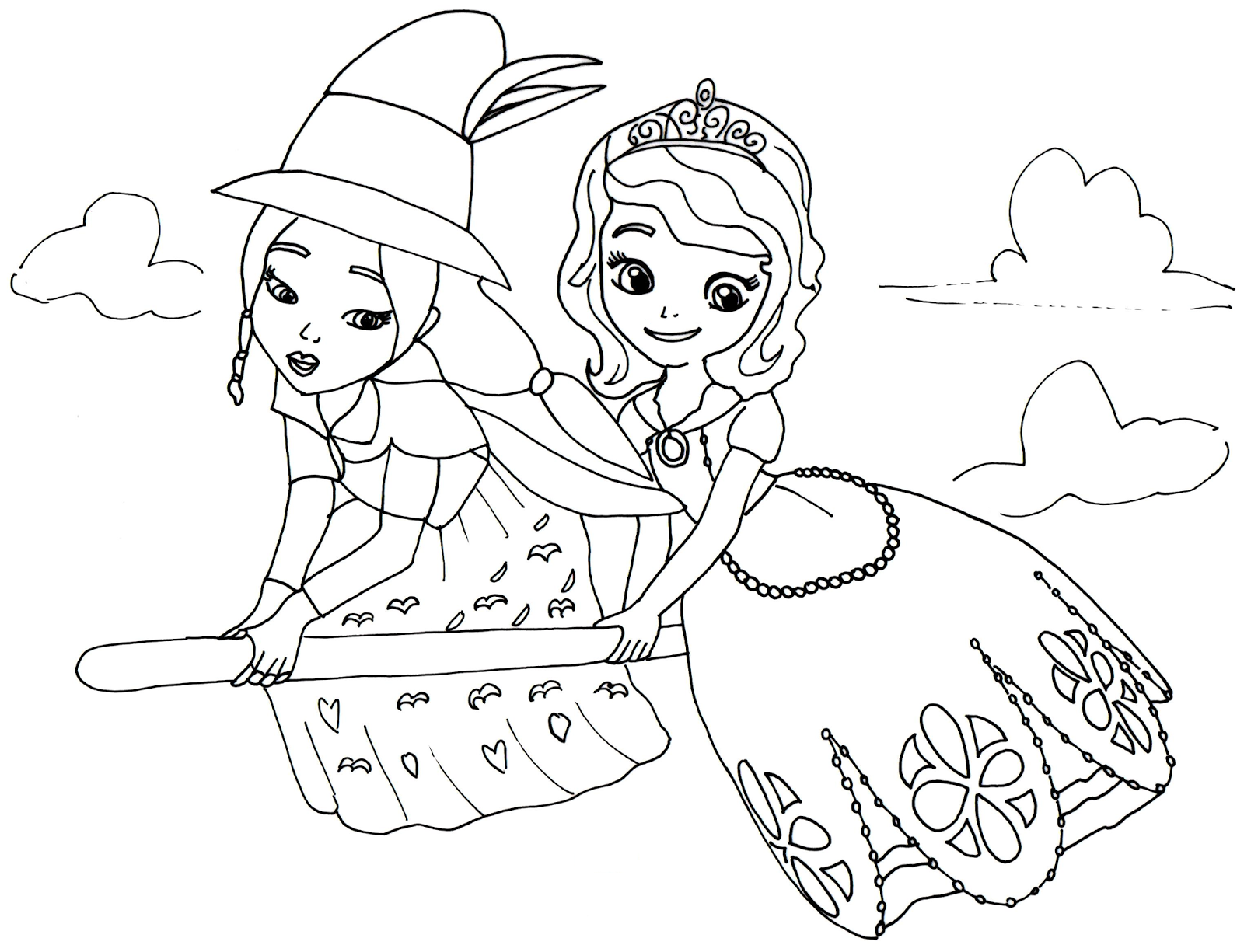 Sofia The First Coloring Pages Pdf